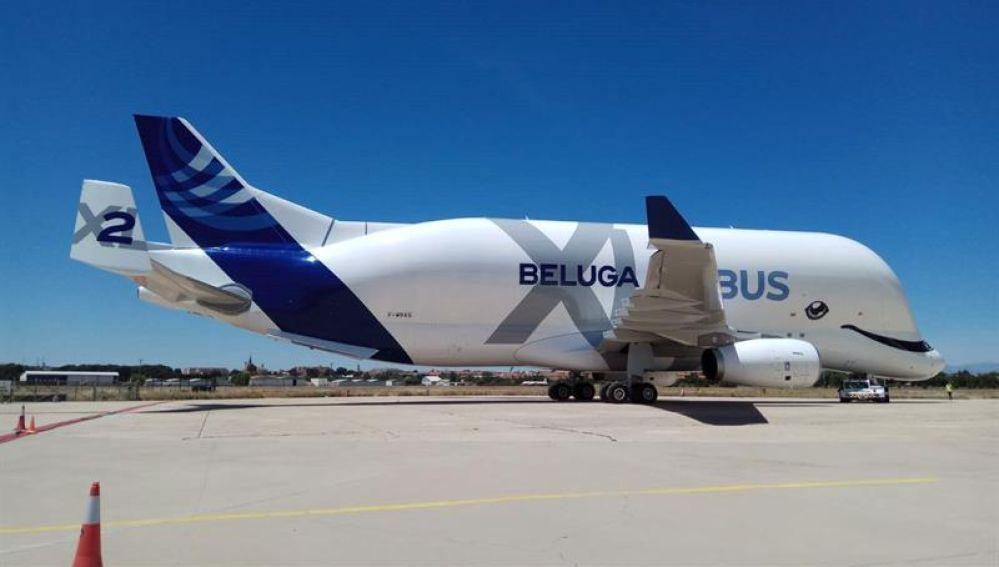 El avión de carga BelugaXL de Airbus