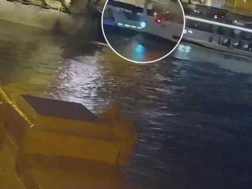 Choque entre dos barcos en Budapest