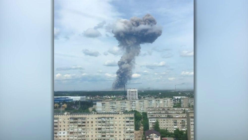 Las detonaciones en una fábrica de explosivos de Rusia