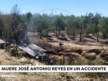 Así quedó el coche de José Antonio Reyes tras el trágico accidente