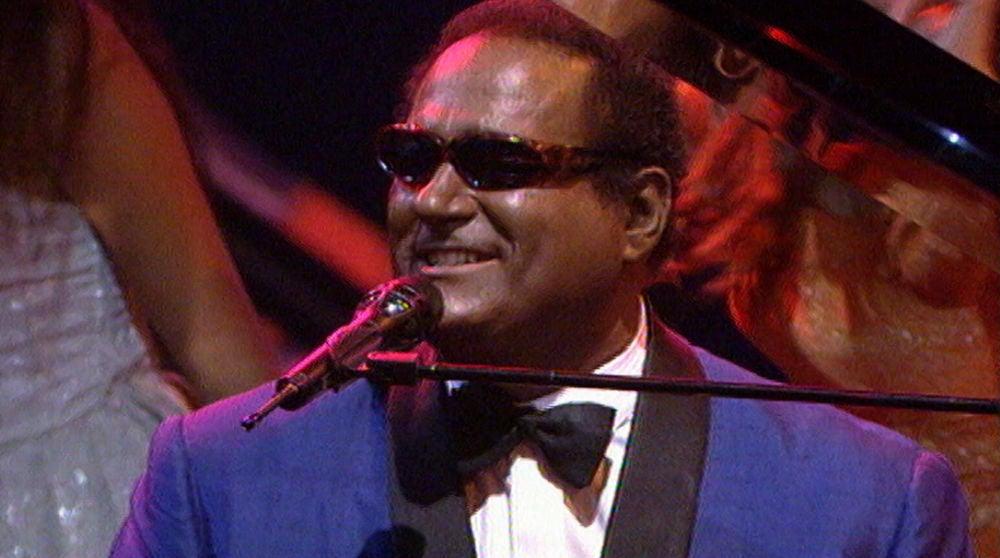 Xavi Garriga imitó a Ray Charles en 'Lluvia de estrellas' en 1996