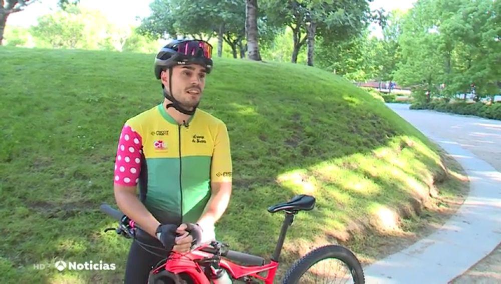El ciclista Daniel Pérez
