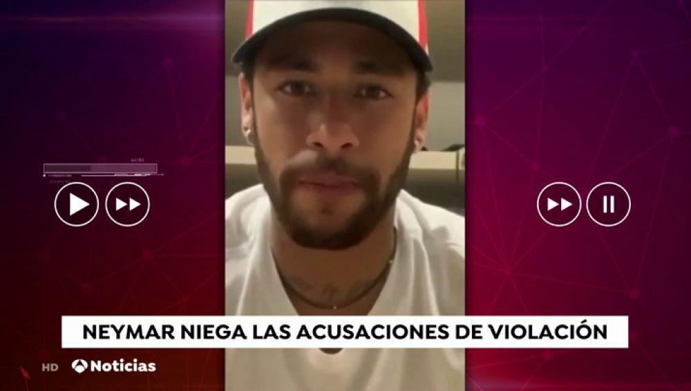 """Neymar divulga los mensajes íntimos con la mujer que lo denunció por violación: """"Caí en la trampa"""""""