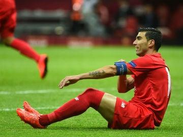 Reyes, en un partido con el Sevilla