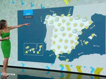 El lunes, lluvias débiles y descenso de temperaturas en el noroeste