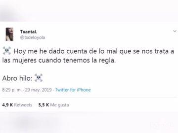 Una joven denuncia a través de un hilo de Twitter lo mal que se trata a las mujeres cuando tienen la regla