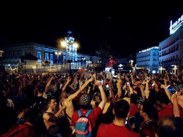 La fiesta en la Puerta del Sol