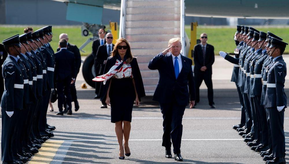 El presidente de los EEUU, Donald Trump, y su mujer, Melania Trump