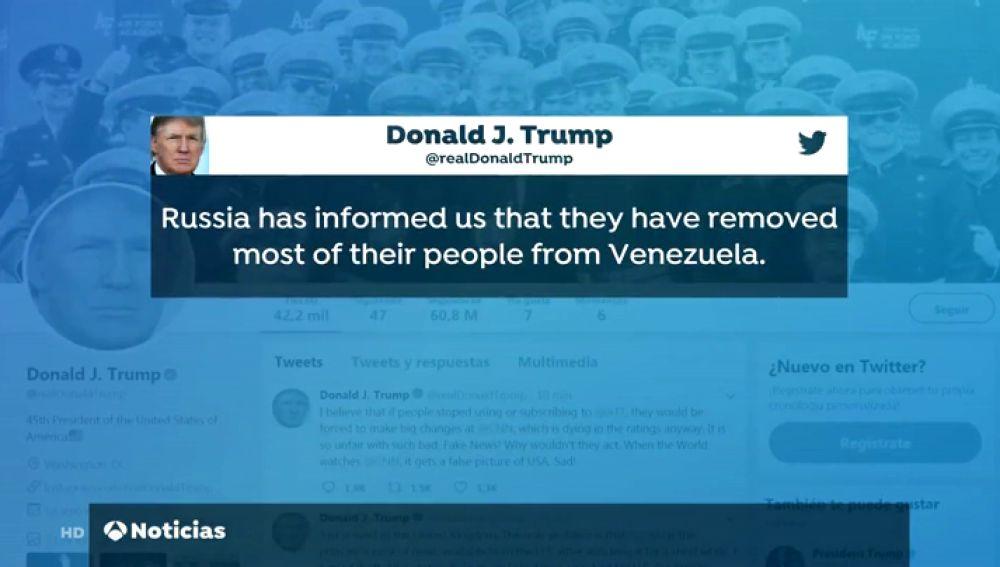Rusia retira a la mayor parte de su ejército de Venezuela, según Donald Trump