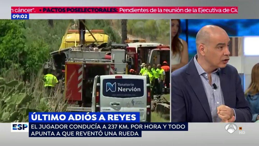 Accidente de coche Reyes.