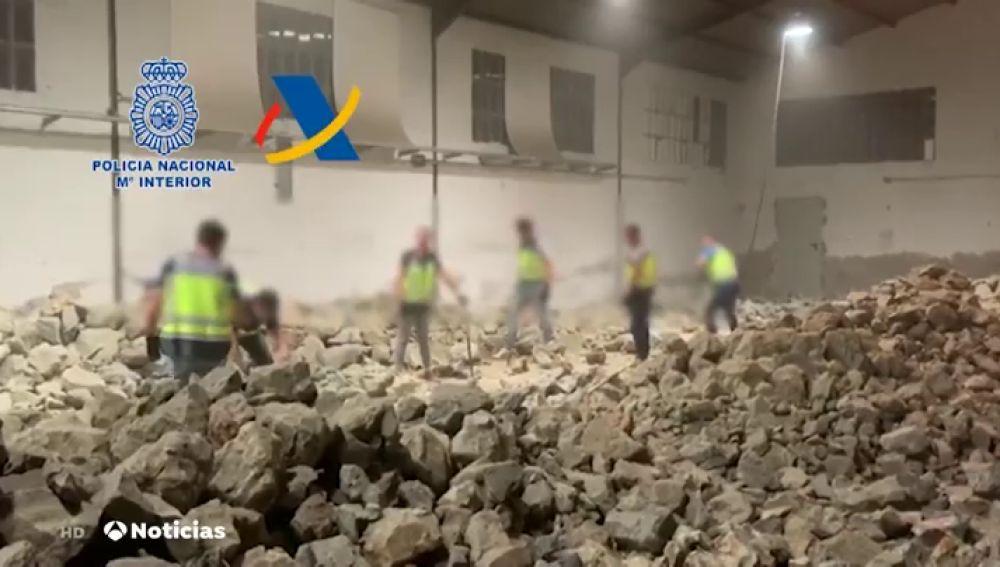 Intervenida una tonelada de cocaína en el interior de falsas piedras