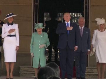 Trump llega a Londres para su visita de Estado al Reino Unido