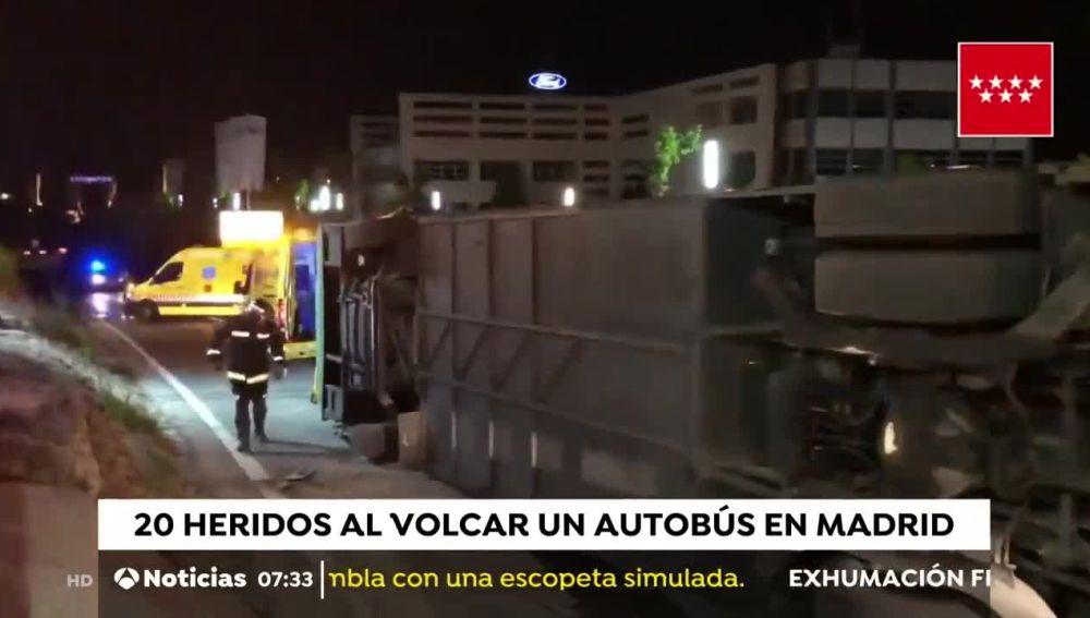 Accidente de autobús en Madrid