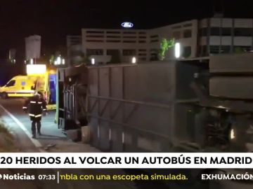 Accidente de autobús en Madrid