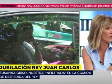 Susanna Griso revela detalles de su comida con el rey Juan Carlos tras anunciar su jubilación