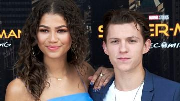 Zendaya y Tom Holland en la premiere de 'SpiderMan: Homecoming'