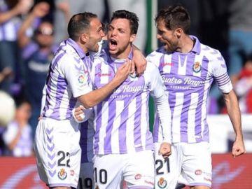 Óscar Plano celebra un gol