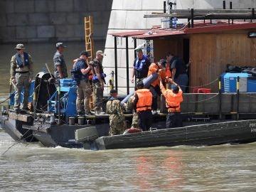 Labores de rescate en el Danubio