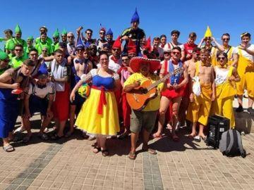 Los jugadores alemanes del VFB Hilden, en Mallorca