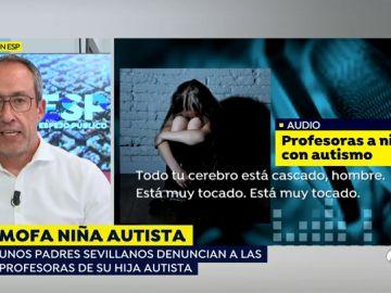 Mofa a una niña autista.