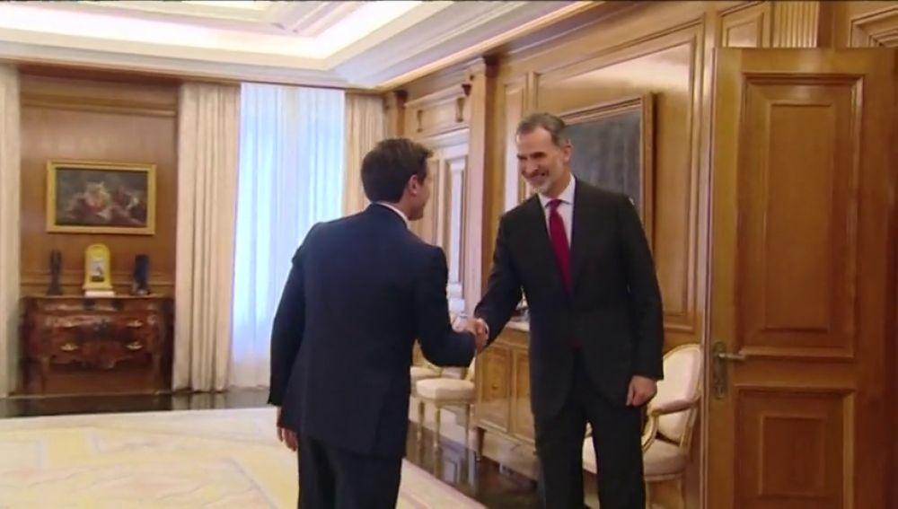 Rivera se reúne con el Rey Felipe VIen la ronda de contactos