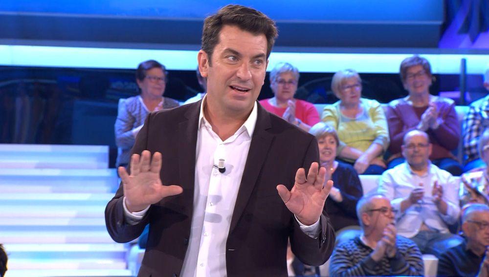 La sugerente propuesta de Fran a Arturo Valls en '¡Ahora caigo!'