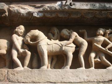 Estatuas en Khajuraho, India