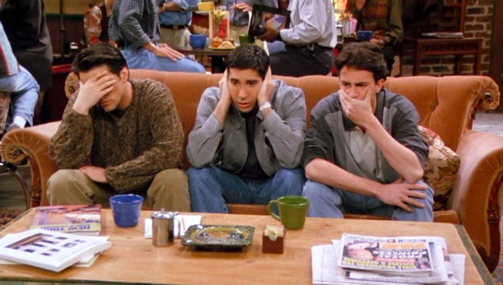 Joey, Ross y Chandler en 'Friends'