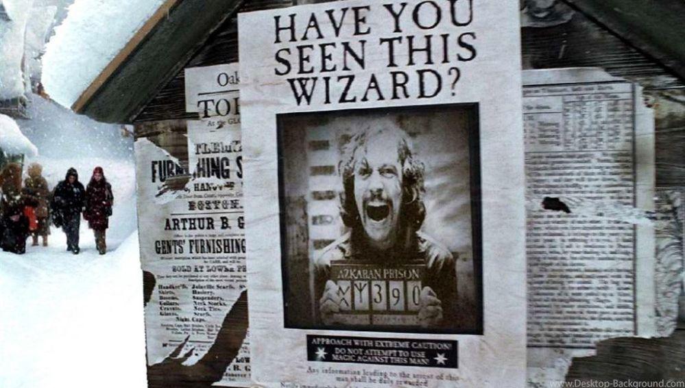 Sirius Black en 'Harry Potter y El Prisionero de Azkaban'