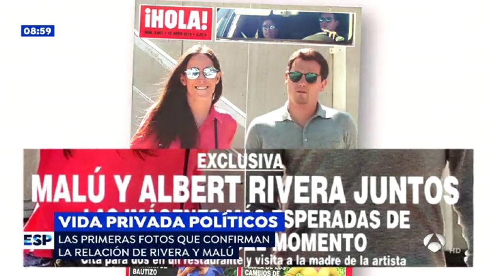 Malú y Rivera, juntos.