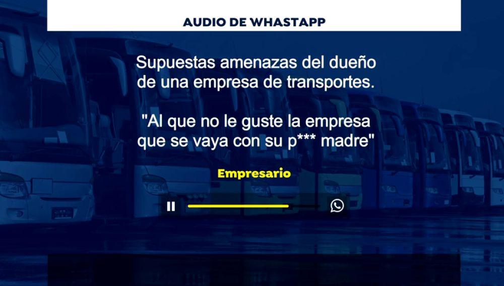 """""""El que no le guste la empresa que se vaya con su p... madre"""" , supuestas amenazas de la gerencia de una empresa de autocares en Granada"""