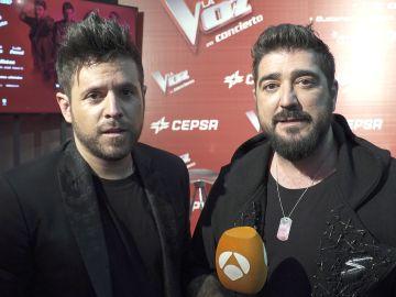 Antonio Orozco y Pablo López animan a votar por el talent favorito de 'La Voz Senior' que estará en el concierto de 'La Voz'