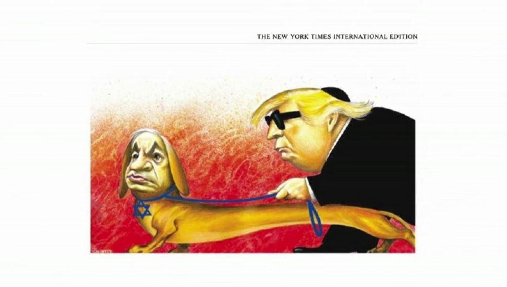 El New York Times dejará de publicar viñetas políticas tras la polémica antisemita con Trump y Netanyahu