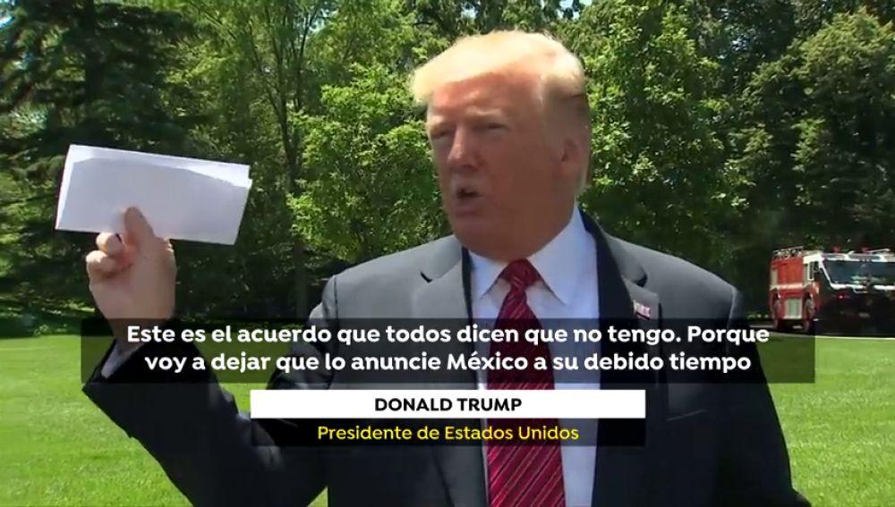 El acuerdo secreto de Trump y México