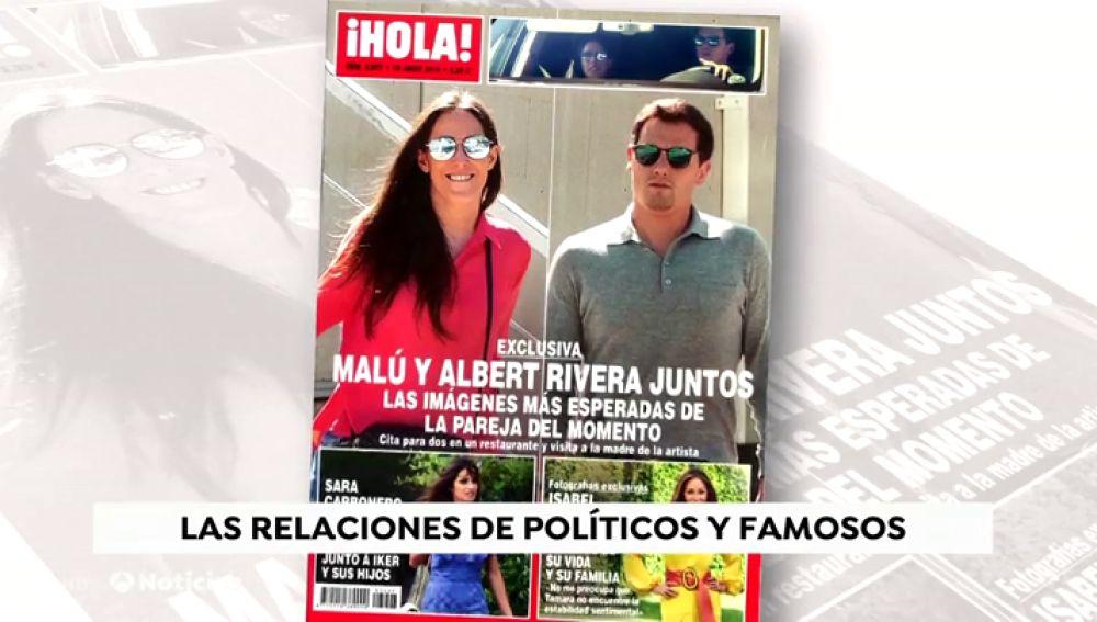 Malú y Rivera en la portada de Hola