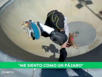 """Daniela, la niña prodigio del 'skateboard': """"Me siento como un pájaro"""""""