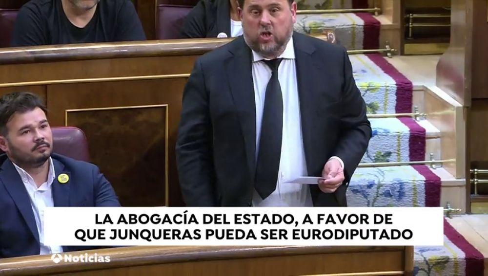 La Abogacía del Estado no se opone al permiso a Junqueras para que tome posesión como europarlamentario