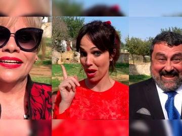 Las divertidas clases de euskera y andaluz con Carmina Barrios, Paco Tous y Nerea Garmedia