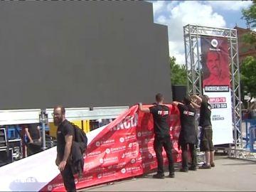 Los independentistas instalan grandes pantallas en las calles