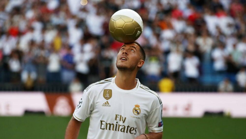 Eden Hazard, en su presentación con el Real Madrid