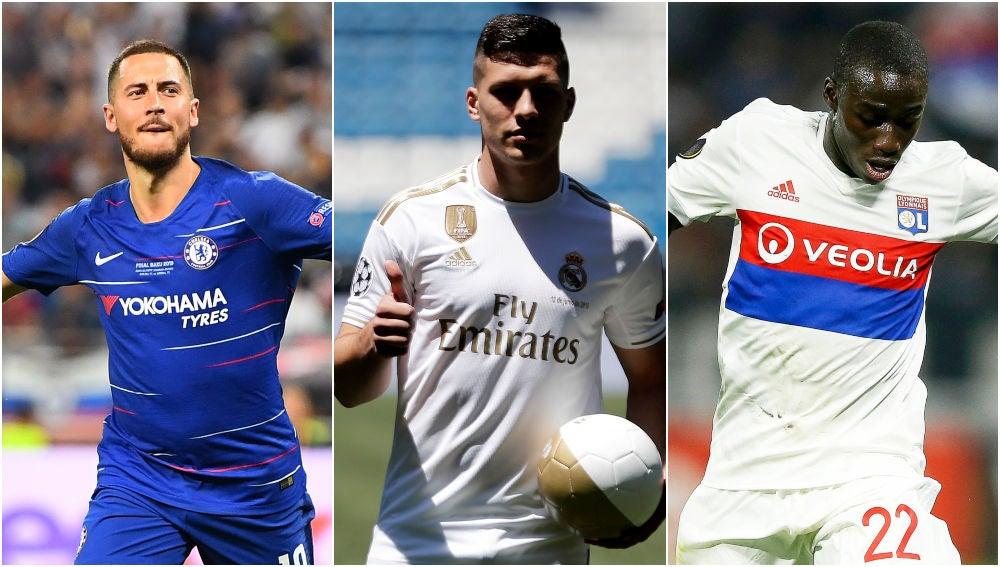 Hazard, Jovic y Mendy, nuevos fichajes del Real Madrid
