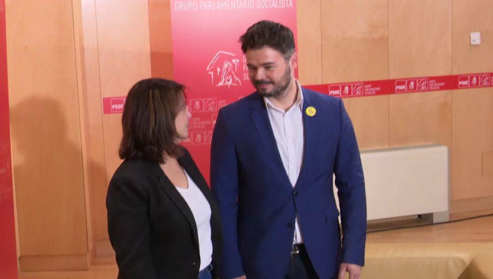 """Rufián: """"ERC no bloqueará la investidura"""""""