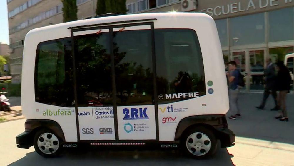Así es el primer autobús autónomo de España