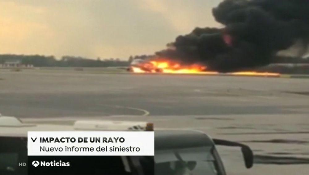 Un rayo, el causante del accidente de avión ruso donde murieron 41 personas