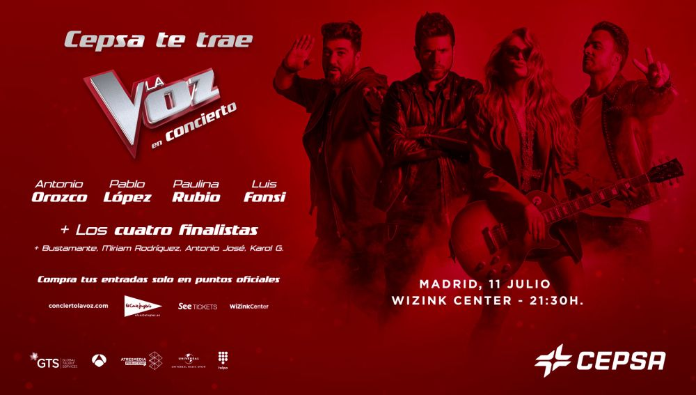 Concierto 'La Voz' 11 de julio en WiZink Center, Madrid