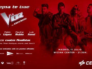 Concierto 'La Voz' 11 de julio en WiZink Center, Madrid
