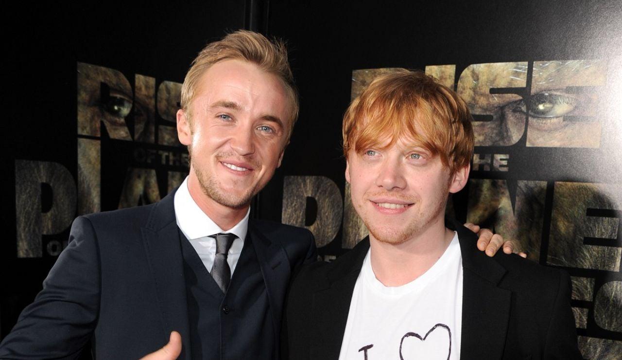 Tom Felton y Rupert Grint de 'Harry Potter'