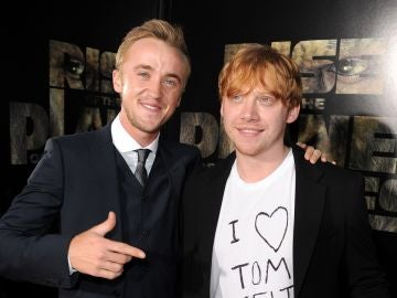 Tom Felton y Rupert Grint de 'Harry Potter'