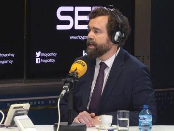 """Espinosa de los Monteros, sobre el reparto de la Alcaldía de Madrid: """"Nos tocarían 8 meses"""""""