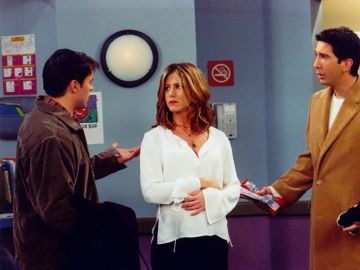 Joey, Rachel y Ross en 'Friends'